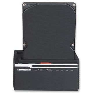 """Manhattan SuperSpeed USB 3.0 auf Dual SATA Kopierstation für 2.5"""" und 3.5"""" Festplatten (130226)"""