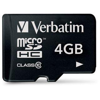 4 GB Verbatim Standard microSDHC Class 10 Bulk