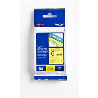 Brother TZE-611 LAMINATED TAPE 6mm 8m