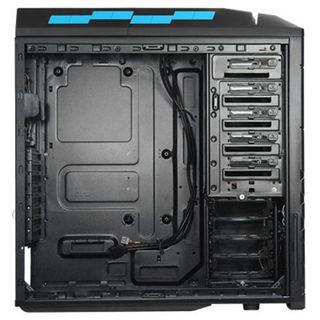 Silverstone Precision PS06 Midi Tower ohne Netzteil schwarz/blau