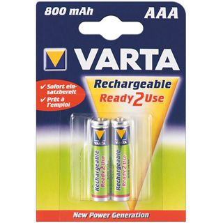 Varta Akku (READY 2 USE) Ni-MH Micro (AAA) 1,2V 800mA (56703), 2er Pack in Blister