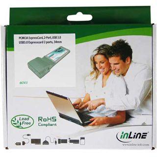 InLine PCMCIA Express Card, , 2-Port, USB 3.0