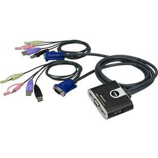 ATEN Technology CS62T 2-fach Kabel KVM-Switch