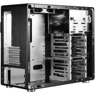 Lian Li PC-V600FX Window All Black Midi Tower ohne Netzteil Klavierlack schwarz