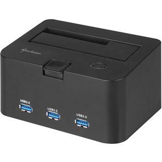 """Sharkoon SATA Quickport H3 USB 3.0 Dockingstation für 2.5"""" und 3.5"""" Festplatten (4044951010714)"""