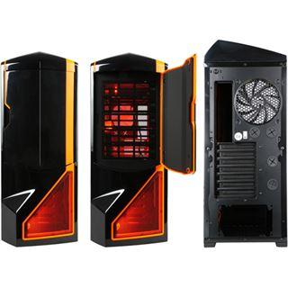 NZXT Phantom Big Tower ohne Netzteil schwarz/orange