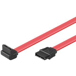 0,7m SATA 3 Gb/s Anschlusskabel mit Arretierung oben gewinkelt rot