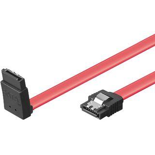 1.00m Good Connections SATA 3Gb/s Anschlusskabel SATA Stecker auf SATA Stecker lang Rot gewinkelt oben/mit Arretierung