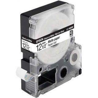 Epson LC-4WBB9 schwarz auf mattweiß Etikettenkassette (1 Rolle (1.2 cm x 9 m))