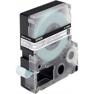 Epson LC-4TWN9 weiß auf transparent Etikettenkassette (1 Rolle
