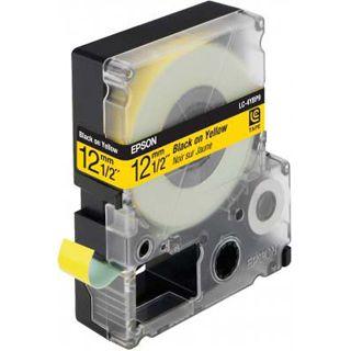 Epson LC-4YBP9 schwarz auf pastellgelb Etikettenkassette (1 Rolle (1.2 cm x 9 m))