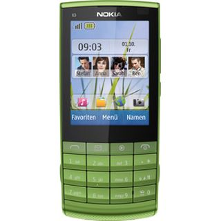 Nokia X3-02i Touch and Type (green)