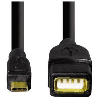 1.80m Hama USB2.0 Verlängerungskabel USB A Buchse auf USB mikroB Stecker Schwarz