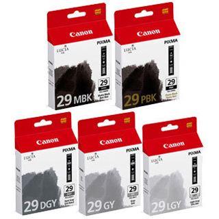 Canon PGI-29 MBK/PBK/DGY/GY/LGY Tintenpatrone Multipack