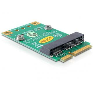 Delock Half-Size > Full-Size Konverter für Mini PCI Express (65229)