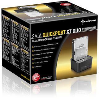 """Sharkoon SATA Quickport XT Duo USB 3.0 Dockingstation für 2.5"""" und 3.5"""" Festplatten (4044951012312)"""