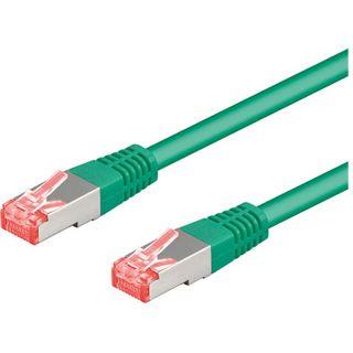 (€3,27*/1m) 1.50m Good Connections Cat. 6a Patchkabel S/FTP PiMF RJ45 Stecker auf RJ45 Stecker Grün halogenfrei