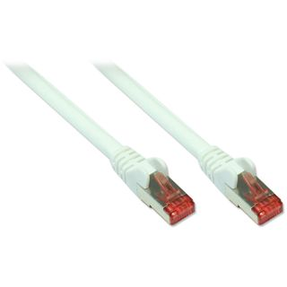 (€3,27*/1m) 1.50m Good Connections Cat. 6a Patchkabel S/FTP PiMF RJ45 Stecker auf RJ45 Stecker Weiß halogenfrei