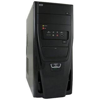 LC-Power 7025B Midi Tower 420 Watt schwarz