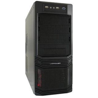 LC-Power Pro-925B Midi Tower 600 Watt schwarz
