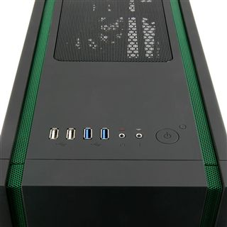 BitFenix Shinobi USB 3.0 Window Midi Tower ohne Netzteil schwarz/gruen