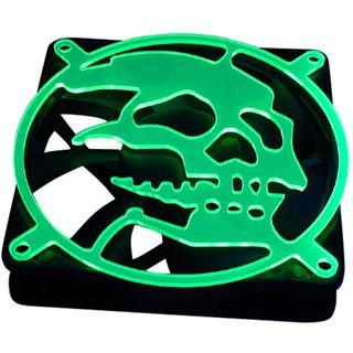 Bitspower 80mm ultragrün Skull Lüftergitter für Lüfter (BP-UVFG80-3-13)