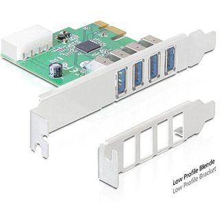 Delock 89316 4 Port PCIe 2.0 x1 Low Profile retail