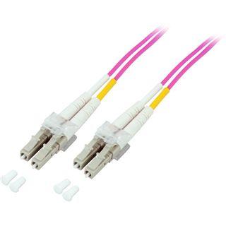 (€4,45*/1m) 2.00m Good Connections LWL Duplex Anschlusskabel 50/125 µm OM4 LC Stecker auf LC Stecker Aqua