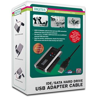 """Digitus USB 2.0 Mini Adapter für 2.5"""" und 3.5"""" Festplatten (DA-70200-1)"""