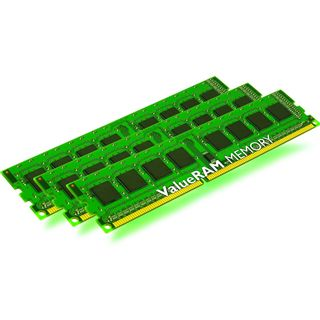 6GB Kingston ValueRAM DDR3-1600 ECC DIMM CL11 Tri Kit