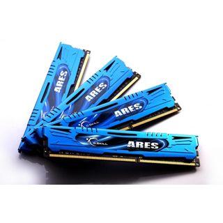 16GB G.Skill Ares blau DDR3-1600 DIMM CL9 Quad Kit
