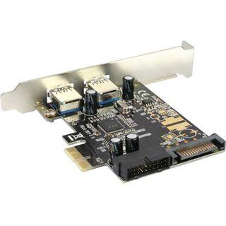 InLine 76666B 4 Port PCIe x1 interner Stromanschluss/inkl. Low Profile Slotblech retail