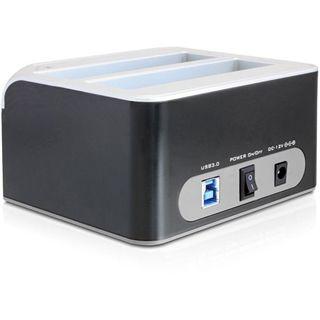"""Delock Dual SATA HDD auf USB 3.0 Dockingstation für 2.5"""" und 3.5"""" Festplatten (61942)"""