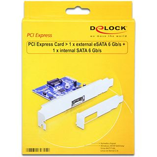 Delock 89324 1 Port PCIe 2.0 x2 Low Profile retail