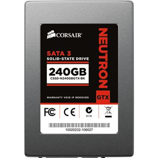 "240GB Corsair Neutron Series GTX 2.5"" (6.4cm) SATA 6Gb/s MLC Toggle (CSSD-N240GBGTX-BK)"