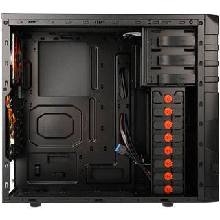 Xigmatek Asgard 381 Midi Tower ohne Netzteil schwarz/orange