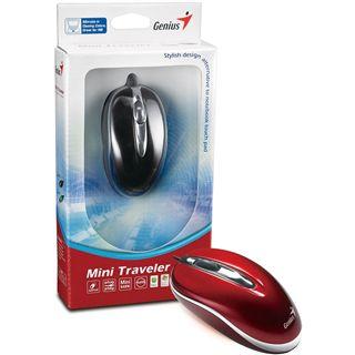Genius Mini Traveler USB rot (kabelgebunden)