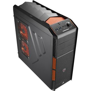 AeroCool Xpredator X1 Evil Black Edition Midi Tower ohne Netzteil schwarz/orange