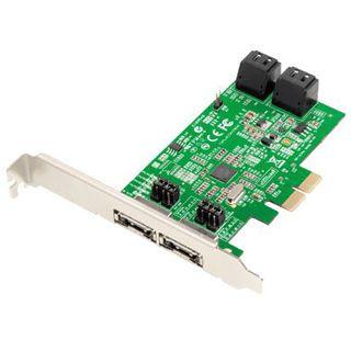Dawicontrol DC-624e 4 Port PCIe 2.0 x2 Low Profile retail