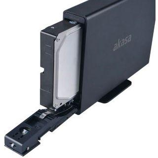 """Akasa Lokstor X31 3.5"""" (8,89cm) eSATA/USB 3.0 schwarz"""