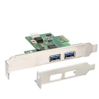 InLine 76666U 2 Port PCIe x1 interner Stromanschluss/inkl. Low Profile Slotblech retail