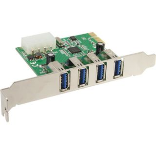 InLine 76661I 4 Port PCIe x1 inkl. Low Profile Slotblech retail