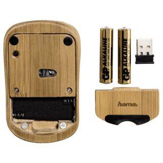 Hama 53859 USB bambus (kabellos)