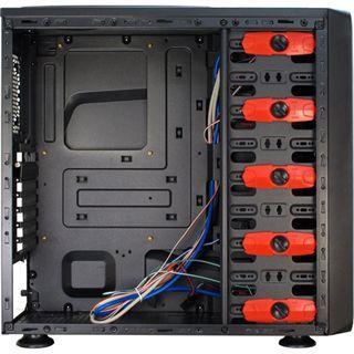 Inter-Tech SY-603 Midi Tower ohne Netzteil schwarz