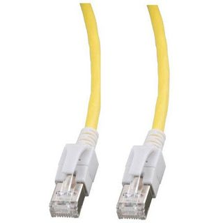 (€9,90*/1m) 1.00m Good Connections Cat. 6a Patchkabel S/FTP PiMF RJ45 Stecker auf RJ45 Stecker Gelb halogenfrei/mit Leuchtstecker