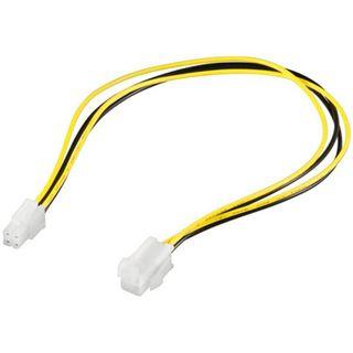 (€13,00*/1m) 0.30m Good Connections Stromkabel Verlängerungskabel 4pol Stecker auf 4pol Buchse Schwarz/Gelb