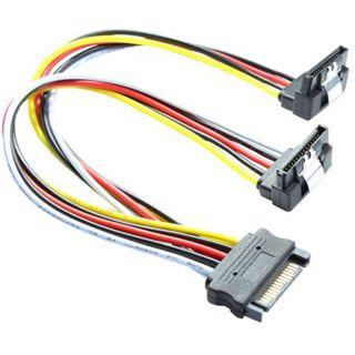 0.30m Good Connections SATA Anschlusskabel gewinkelt unten SATA Stecker auf SATA Buchse Schwarz/Rot/Gelb