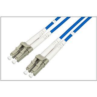 (€3,73*/1m) 30.00m Good Connections LWL Duplex Patchkabel 50/125 µm OM3 LC Stecker auf LC Stecker Blau Aramidverstärkung / Multimode / Stahlrohr