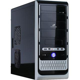 Cooltek K2 3.0 Midi Tower ohne Netzteil schwarz/silber