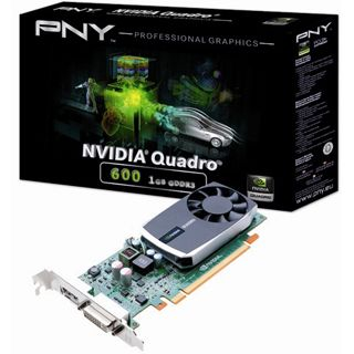 1GB PNY Quadro K600 Low Profile Aktiv PCIe 2.0 x16 (Bulk)